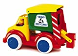 ": Viking X-Large Recycling Truck 13.5"" with 2 Figures, Can and Working Levers"