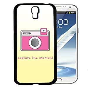 Capture the Moment Quote with Cute Pink Camera and Yellow Gradient Background Hard Snap on Cell Phone Case Cover Samsung Galaxy S4 I9500