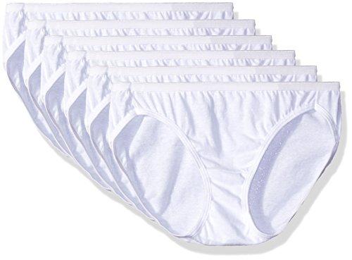 - Hanes Women's 6 Pack Cotton Bikini Panty, White, Small