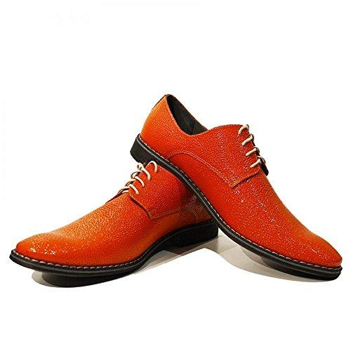Modello Mandarino - Handmade Colorful cuir italien de chaussures pour hommes uniques