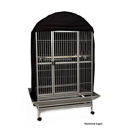 Sky Pets Black Bird Cage Cover - Durable Cover for Bird Cage - Black - W 71cm x D 56cm x H 117cm