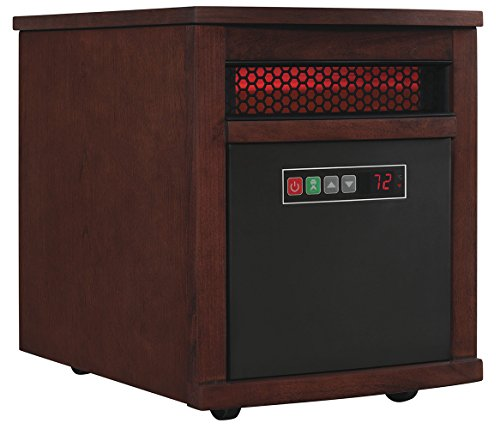 Duraflame 9HM8101-C299 Portable Electric Infrared Quartz Heater, Cherry