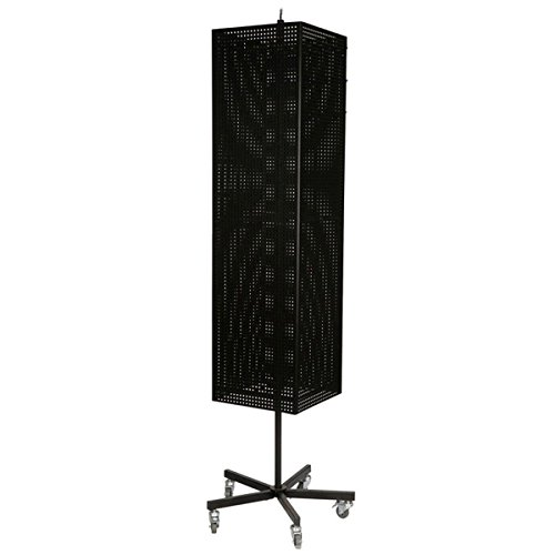Metal Pegboard Souvenir Rotating Spinner Retail Rack Store Displays Hooks Black New by Bentley's Display
