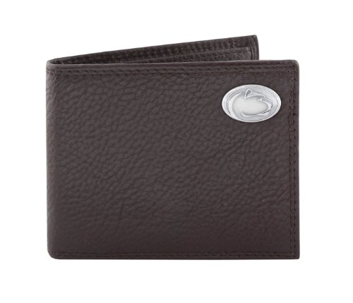 NCAA Penn State Nittany Lions Zep-Pro Pebble Grain Leather Trifold Concho Wallet, Black