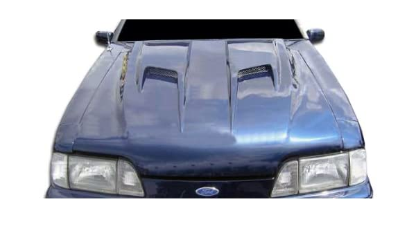 Amazon.com: 1987-1993 Ford Mustang Duraflex Mach 2 Hood - 1 Piece: Automotive