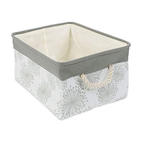 (BEYONDY Storage Bins,Fabric Storage Baskets Towel Storage Bin Laundry Toy Basket w Drawstring Closure,Gray (Medium - 14.2