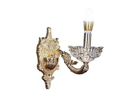 Central Park Gold Wall Sconces for Bedroom Living Room Hallway, CPH-XZY-5-L1-G