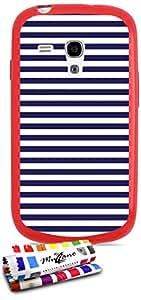 Carcasa Flexible Ultra-Slim SAMSUNG I8190 de exclusivo motivo [Marinero azul] [Roja] de MUZZANO  + ESTILETE y PAÑO MUZZANO REGALADOS - La Protección Antigolpes ULTIMA, ELEGANTE Y DURADERA para su SAMSUNG I8190