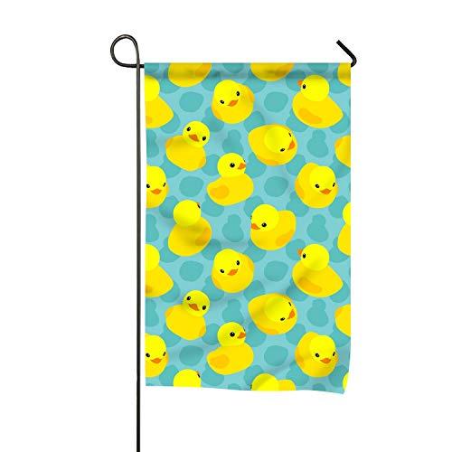 (suhongliang Yellow Rubber Ducks Clip Art Welcome Garden Flag Vertical Outdoor & Indoor )