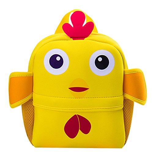 Coafit Kinder Schulrucksack Niedlicher Rucksack Der Karikatur Tier Mehrzweck Schule Büchertasche Yellow Chick