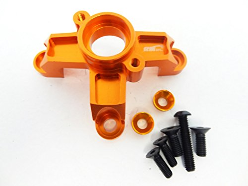 Aluminum Clutch Bell - King Motor Aluminum Clutch Bell Support (orange) Fits HPI Baja 5B, SS, 2.0, 5T and King Motor KSRC-001 and KSRC-002 and T1000 buggies and trucks