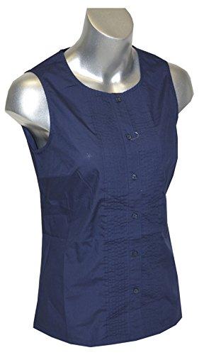 Tommy Hilfiger Women Tuxedo Shell Top (S, Navy)