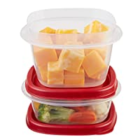 Rubbermaid Easy Find Lids Food Storage Container, 6-Piece Set, Red (1777165)