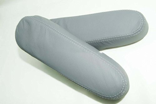 Fits 1999-2004 Honda Odyssey Real Gray Leather Seat Armrest Covers (Leather Part Only)