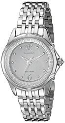 Citizen Women's EM0370-51A Citizen Signature Versaille Analog Display Japanese Quartz Silver Watch