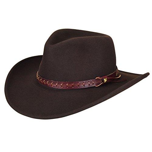 Bailey Wool Hats Hat - Bailey of Hollywood Men's Durable LiteFelt Wool Western Firehole Hat, Beaver (Medium)