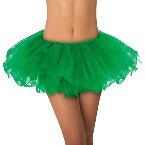 Green Tutu (Party Perfect Team Spirit Green Tutu With Elastic Waistline Wearables, Green, Tulle Fabric, 14