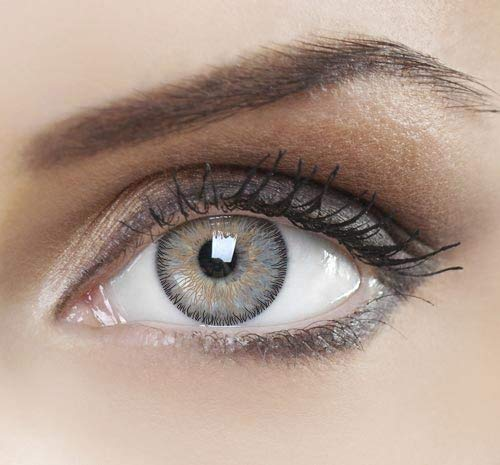 NewTech1 - Eye Enhancer Multi Colored Contact Lens Shadow for the most natural eye color change - Hazel 3