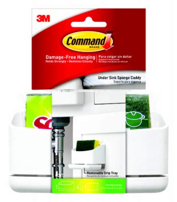 Command 17609-HWES Sink Caddy, Holder, 4-Medium Strips + 1 Scotch