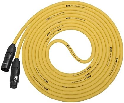 Lyxpro Balanced Xlr Yellow Cable 10 Ft Premium Series Professional Microphone Cable