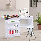 Giantex Folding Sewing Craft Table, Sewing Craft