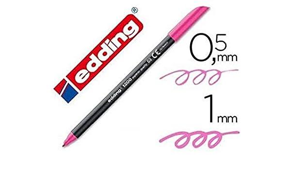 Edding - Rotulador punta fibra 1200 rosa neon n.69 punta de fibra 0: Amazon.es: Oficina y papelería