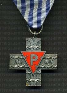 La medalla cruzada Auschwitz ¡somos tu estación premio y#x17C; O Y#x15B;Wi y#x119;cimski