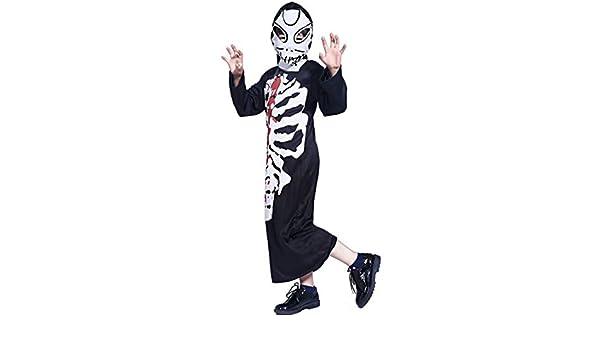 Disfraz de Esqueleto para Niño Niña Horror Terror Disfraces ...