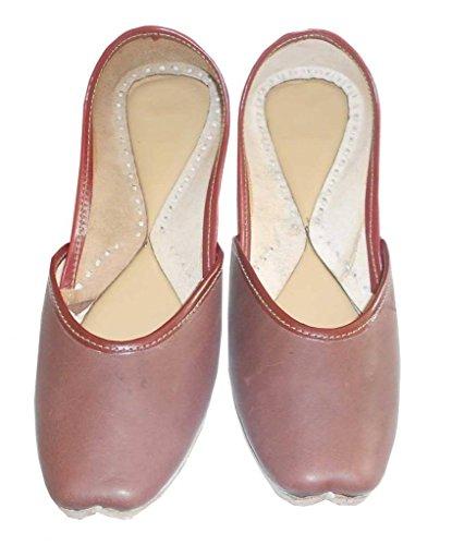 Chaussures Sport Femmes Marron Kalra Cuir De Creations Indien Traditionnel w0x7XUp