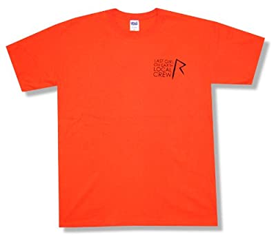 "Bravado Adult Rihanna ""Local Crew"" Orange T-Shirt"