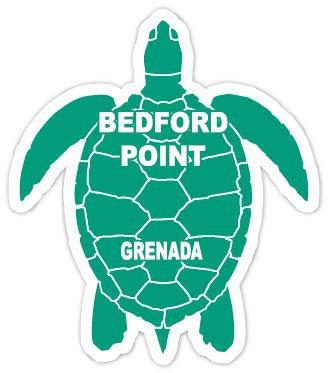 R and R Imports Bedford Point Grenada 4 Inch Green Turtle Shape Decal Sticke