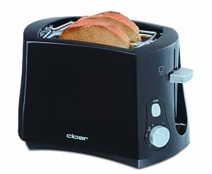 Cloer 3310 Cool-Wall-Toaster, 825 W für 2 Toastscheiben mit integriertem...