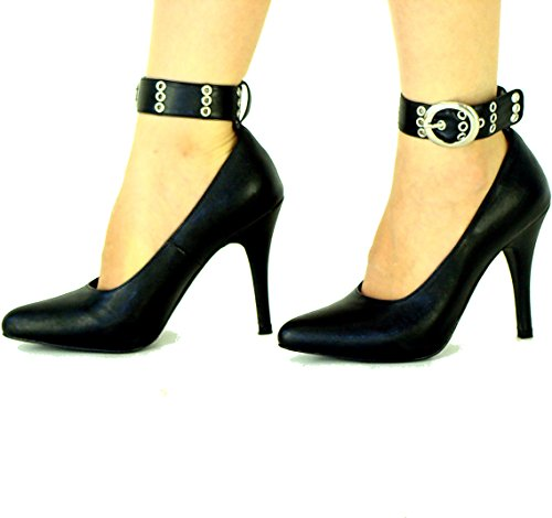 Black 1 Strap Real Leather High Heel Court Pump Shoes FSLEA8040BC UK 4 5 6 7 8 zYEn2FFn5
