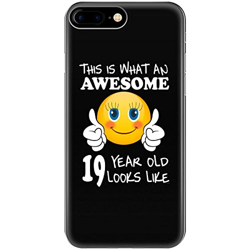 Emoji Birthday 19th Birthday Presents Woman 19 Year Old Gift - Phone Case Fits Iphone 6, 6s, 7, 8