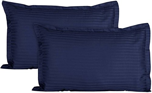 Trance Home Linen 100% Cotton Pillow Covers (18X28-inch, Navy Blue) - Pack of 2 product image