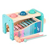 Arkmiido Wooden Hammer Toy for Kids,Montessori Toys Ball Drop Toy and Xylophone Set Best Gift for 1 2 3 4 Years Old Wooden Music Toys,Early Eductional Toys for Toddler.
