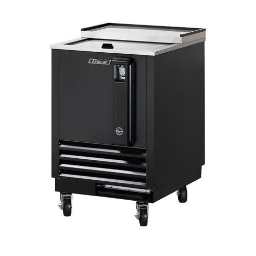 TBC24SB 3 cu. ft. Bottle Cooler with Forced Air Cooling System High Density PU Insulation PE Coated Dividers Efficient Refrigeration System and Stainless Steel Construction: Black