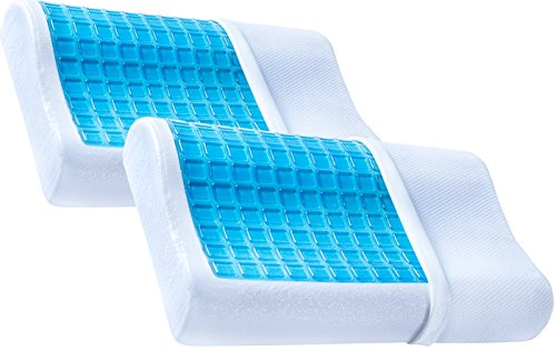 2 Pack Pharmedoc Contour Memory Foam Pillow W Cooling