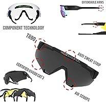 Amazon.com: VeloChampion - Gafas de sol oficiales con 4 ...