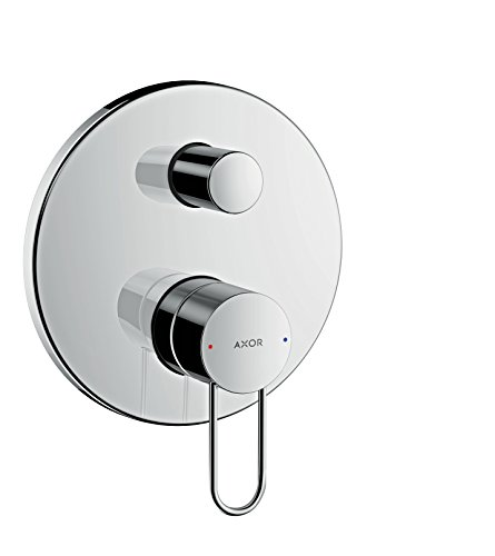 (AXOR Uno Bath Mixer, Loop Handle, integrated backflow prevention, chrome)