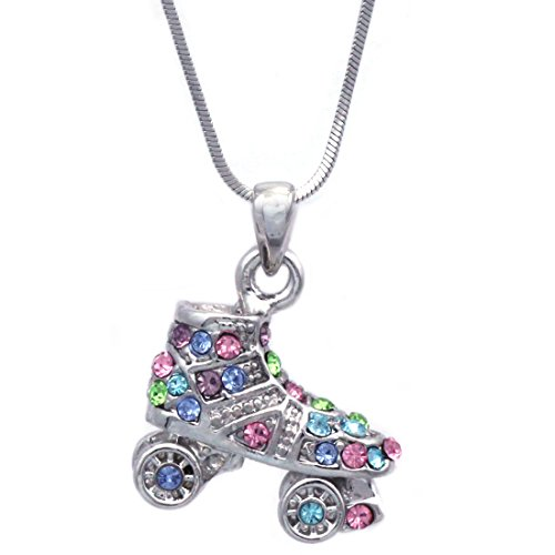 3D Roller Skates Skating Shoes Pendant Necklace Jewelry (Multi-Color)]()