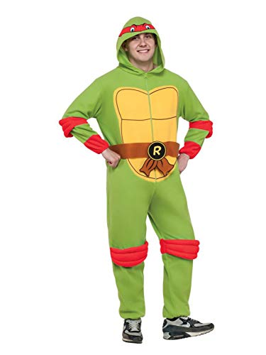 (Rubie's Men's Teenage Mutant Ninja Turtles Hooded Jumpsuit, Michelangelo,)