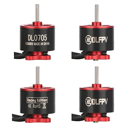 DLFPV 4pcs DL0705 15000KV 1S Brushless Motor for 60 80 100 FPV Racing Mini Drone RC Multirotor Quadcopter by DLFPV