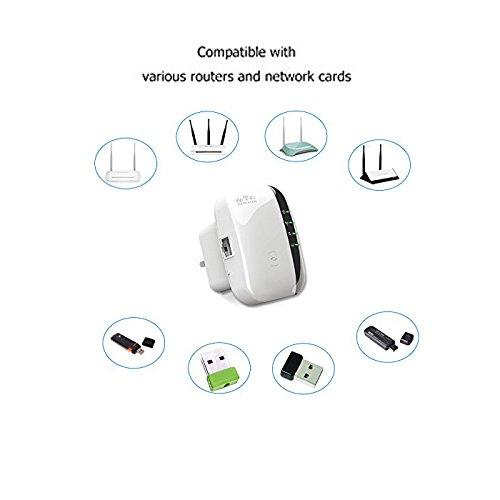 YETOR Wifi Repeater 300M Range Extender Wireless Network Amplifier Mini AP Router Signal Booster Wireless-N 2.4GHz IEEE802.11N/G/B with Integrated Antennas RJ45 Port WPS Protection (mini/Repeater) by YETOR (Image #4)