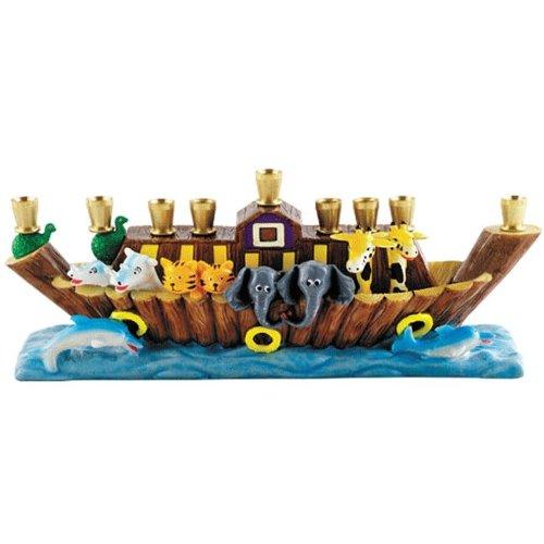 Hanukkah Children's Noah's Ark Menorah (Children Menorah)