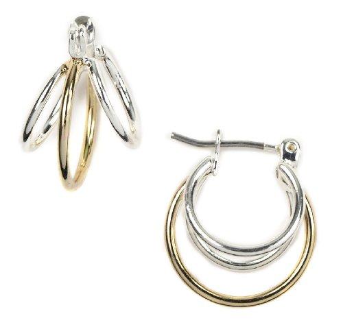 Napier Two Tone Earrings (Napier