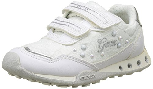 Geox Jr New Jocker Girl B - Zapatillas Niñas Blanco (Whitec1000)