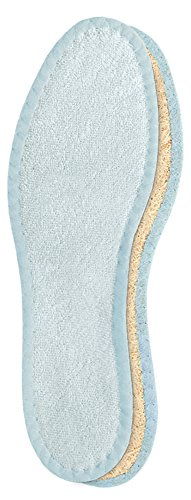 10 Natural (Pedag 106 Deo-Fresh Washable Insoles with Natural, Durable Cotton Terry and Sisal Fibers, Pale Blue, Women's 10/Men's 7)