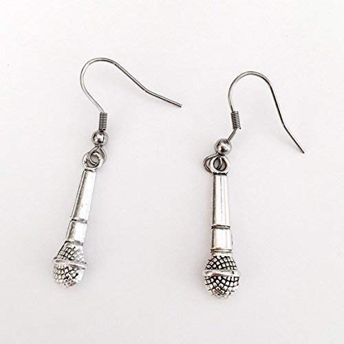Microphone Earrings Karaoke Singers Musicians Nickel Free Hypoallergenic
