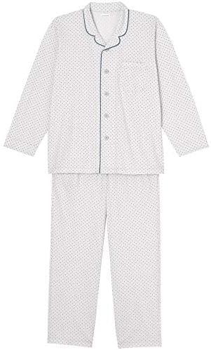 [ウンナナクール] メンズパジャマ シンプルプチドット 上下セット(綿100%)
